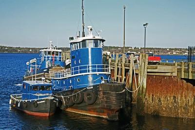 Blue Tugboats