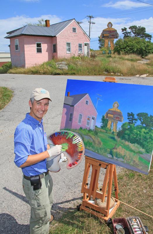 Artist Painting Billboard