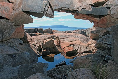 Window to Cadillac Mountain c2011